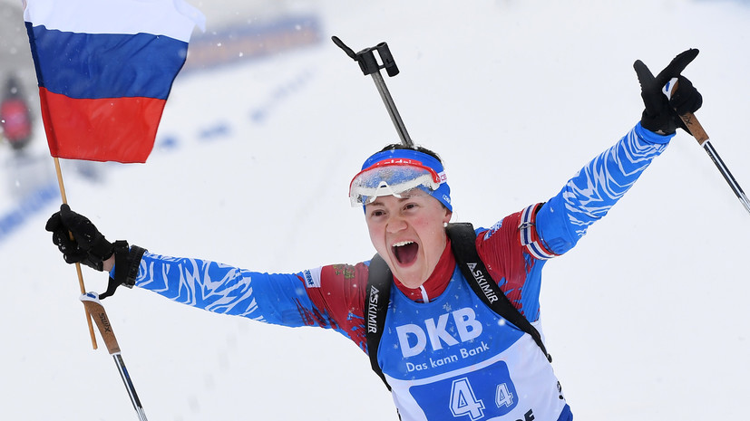 Биатлонистка Юрлова-Перхт стала чемпионкой Европы в пасьюте