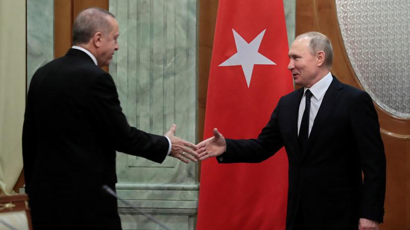 Путин поздравил Эрдогана с юбилеем