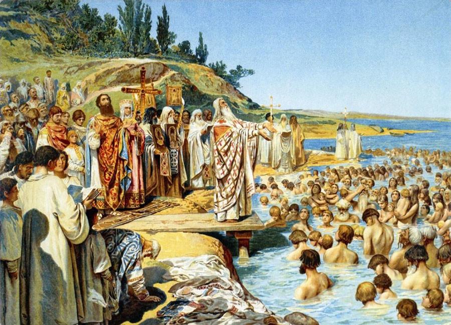 К. Лебедев. Крещение киевлян
