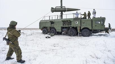 Подготовка к боевому пуску баллистической ракеты «Искандер-М»