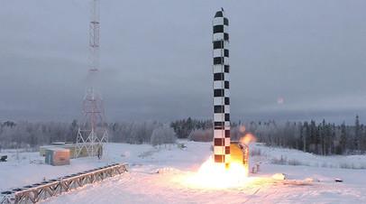 Бросковые испытания межконтинентальной баллистической ракеты «Сармат»