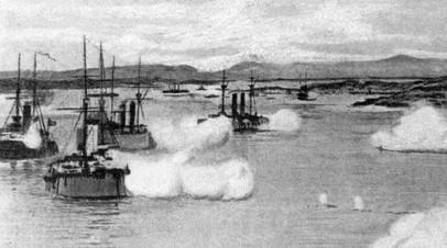Морской бой во время Русско-японской войны