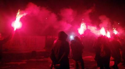 Украинские националисты на акции в Киеве