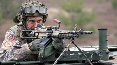 Пехотинец латвийской армии