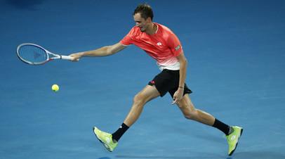 Медведев заявил, что разозлился в конце первого сета матча с Шарди на турнире ATP в Роттердаме