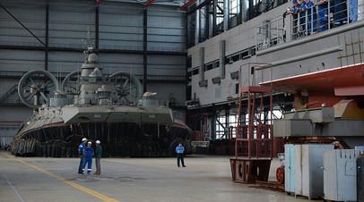 На судостроительном заводе «Море» в Феодосии