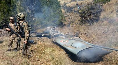 Предположительно, обломки истребителя индийских ВВС, сбитого 27 февраля 2019 года пакистанскими ВВС