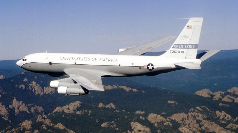 Военный самолётСША пролетел над территорией России
