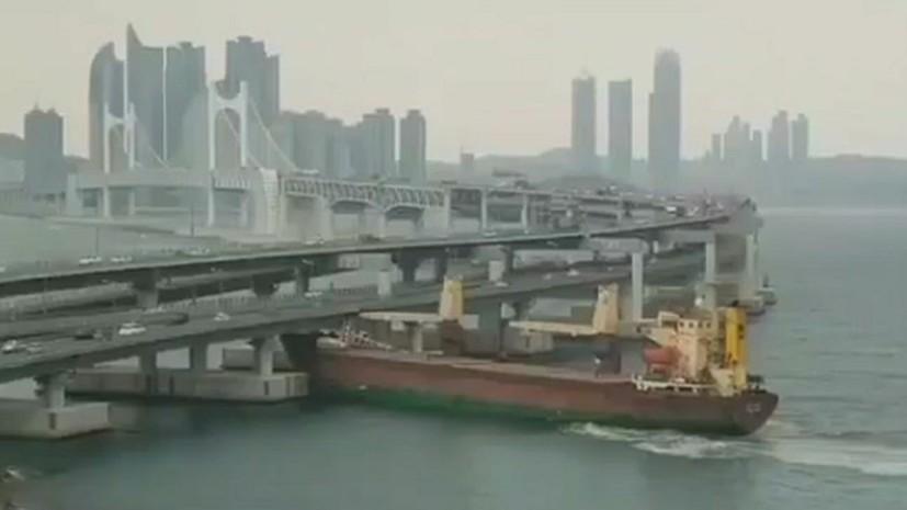 В Южной Корее продлили арест протаранившему мост капитану российского судна