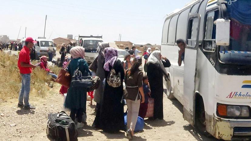 Минобороны призвало Иорданию содействовать возвращению беженцев в Сирию