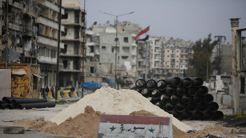 При обстреле боевиками сирийской провинции Алеппо погибли два человека