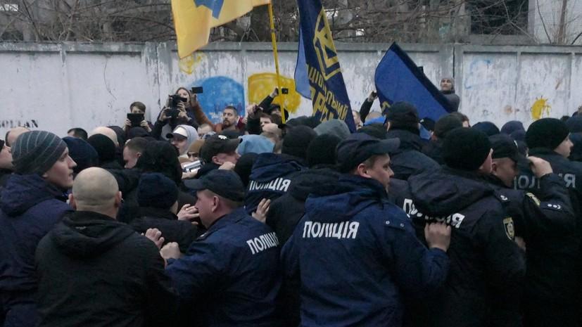 Националисты сорвали выступление Порошенко в Черкассах