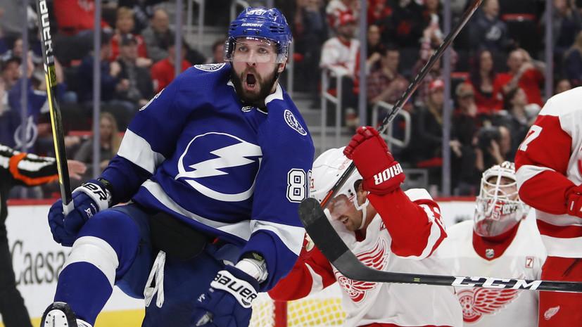 Четыре очка Кучерова помогли «Тампе» победить «Детройт» в НХЛ, проигрывая по ходу матча 0:3