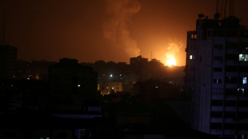 Израиль атаковал около 100 целей в секторе Газа
