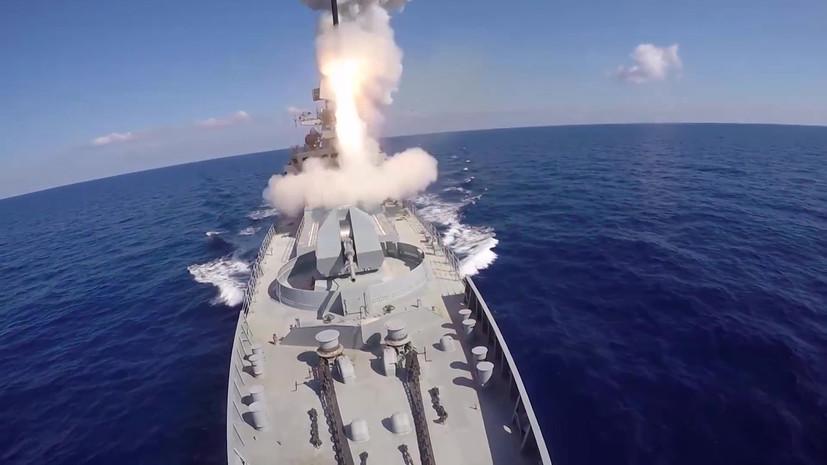 Каспийская флотилия отработала поражение «Калибром» надводных целей