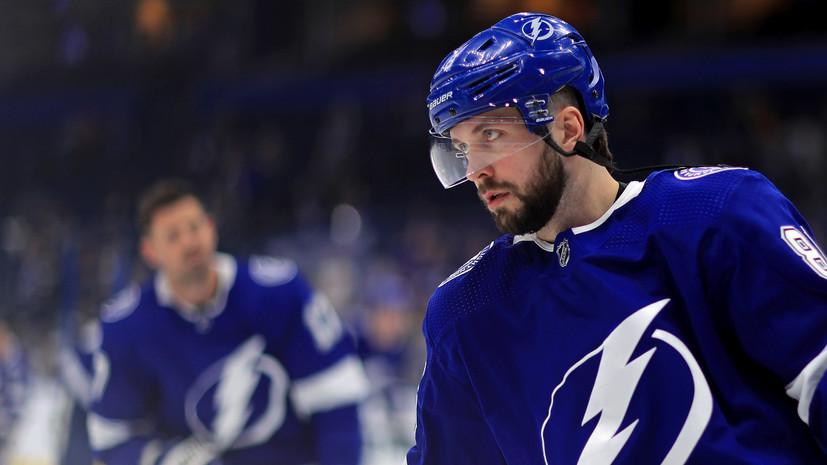 Кучеров установил рекорд по результативным передачам за сезон НХЛ среди россиян