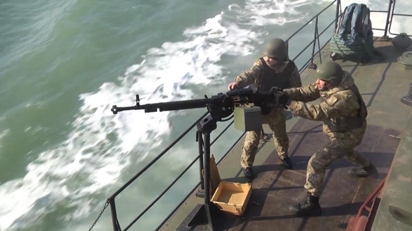 Украинские военные провели учения в Азовском море
