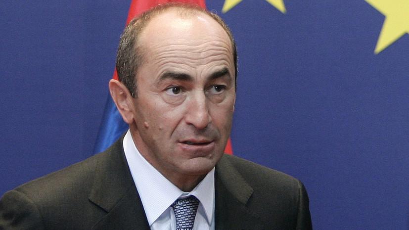 Суд оставил под арестом экс-президента Армении Кочаряна