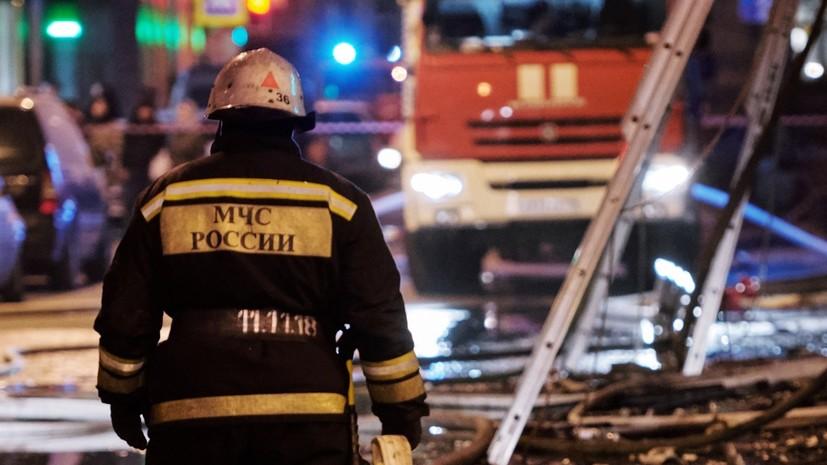 В Благовещенске произошёл пожар в цехе по производству полистирола