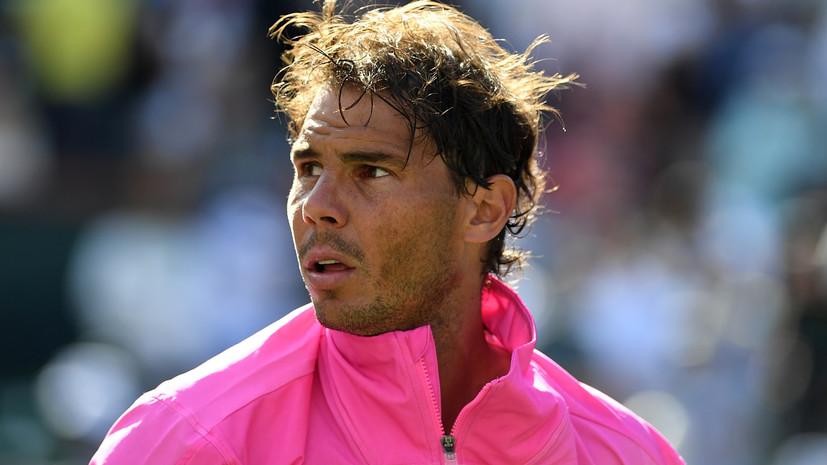 Надаль снялся с турнира в Индиан-Уэллсе из-за травмы и не сыграет с Федерером
