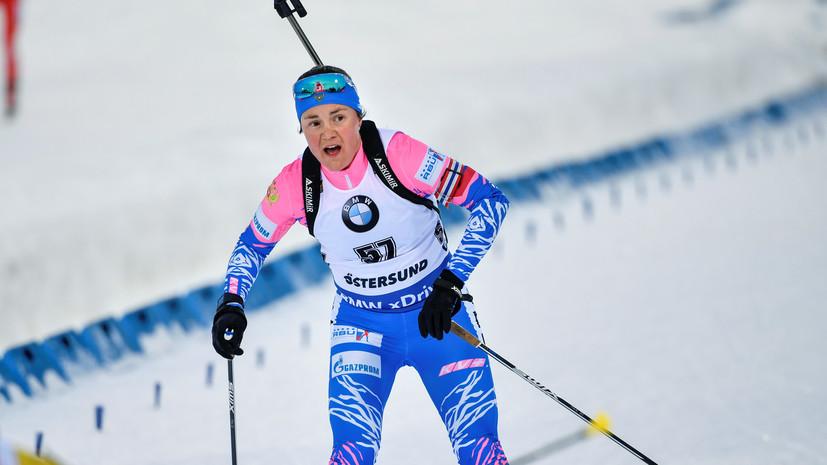 Биатлонистка Юрлова-Перхт завоевала серебро в масс-старте на ЧМ в Швеции