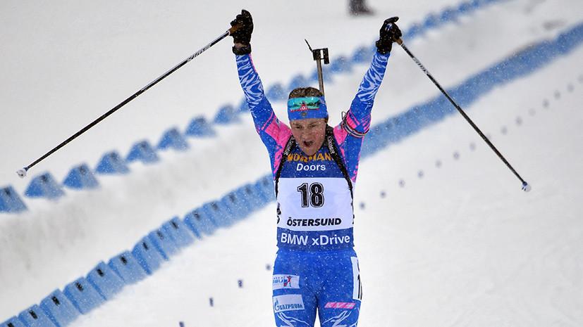 Первая медаль: Юрлова-Перхт завоевала серебро в масс-старте на ЧМ по биатлону