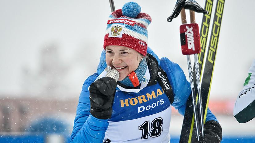 «Думала о завершении карьеры»: Юрлова-Перхт — после завоевания серебряной медали на ЧМ по биатлону
