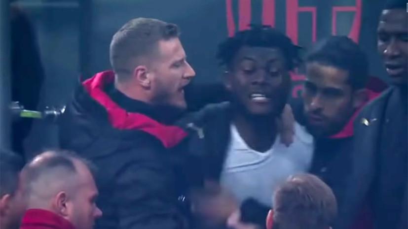 Футболисты «Милана» Кэсси и Билья повздорили на скамье запасных во время дерби с «Интером»