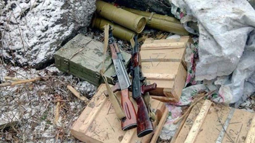 В ЛНР рассказали о найденном в Донбассе оружейном тайнике