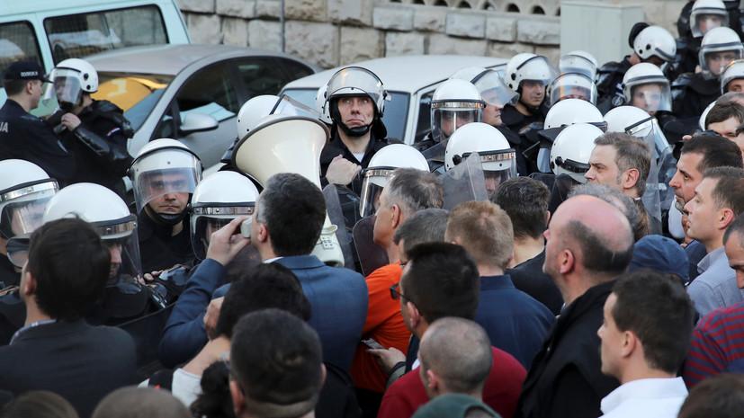 В МИД России выразили обеспокоенность попытками спровоцировать насилие в Белграде