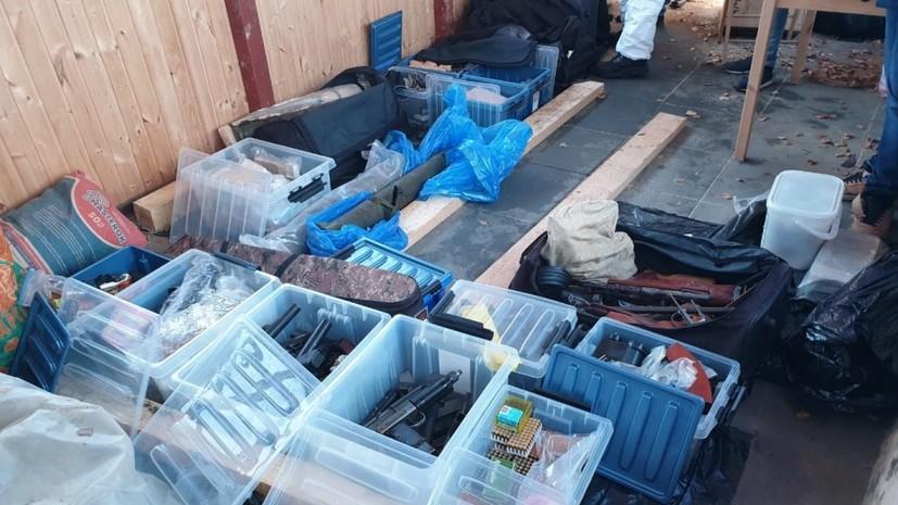 В Подмосковье найден крупный арсенал оружия причастной к убийствам банды