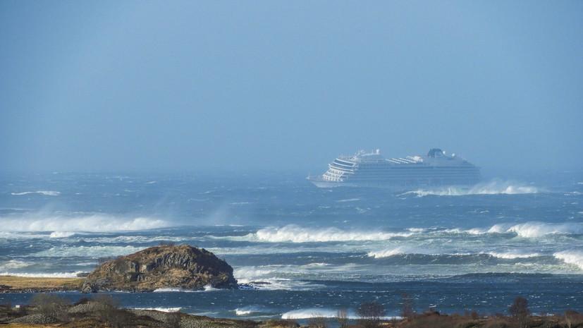 С терпящего бедствие у берегов Норвегии лайнера Viking Sky эвакуировали 313 человек
