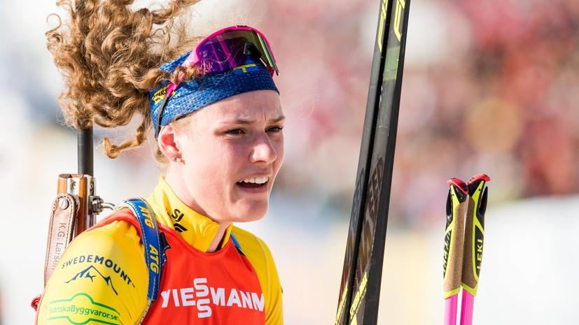 Биатлонистка Эберг победила в масс-старте на этапе КМ в Хольменколлене, Миронова — 15-я