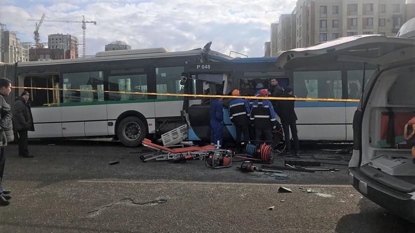 Число пострадавших в ДТП с автобусами в Нур-Султане увеличилось до 36