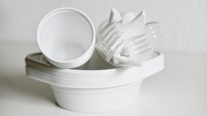 В Госдуме прокомментировали решение ЕС запретить к 2021 году продажу одноразовой пластиковой посуды