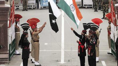 Пакистанские военные на индо-пакистанской границе.