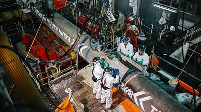 Рабочие, занятые в реализации строительства трубопровода «Турецкий поток»