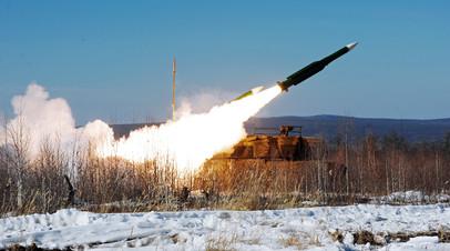 Стрельба из зенитного комплекса средней дальности «Бук»