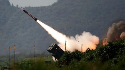 Пуск ракеты ЗРК Patriot