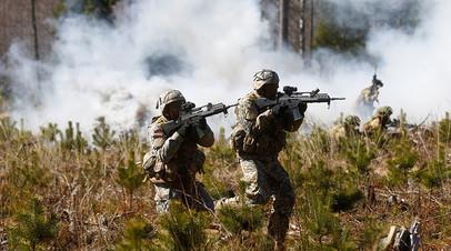 Учения сил НАТО в Латвии, апрель 2018 года