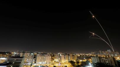 Запущенная из сектора Газа ракета попала в дом к северу от Тель-Авива