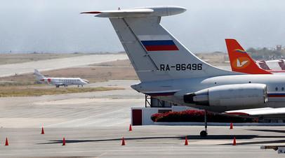24 марта в столицу Венесуэлы Каракас прибыли два российских самолёта: Ил-62 и Ан-124