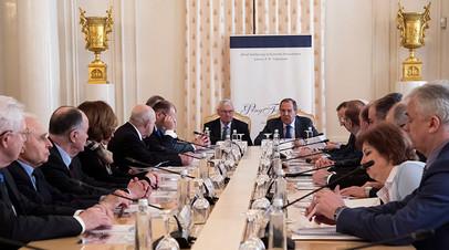 Лавров провёл заседание попечительского совета Фонда поддержки публичной дипломатии