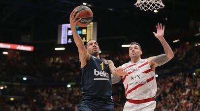 Турецкий «Фенербахче» досрочно выиграл регулярный чемпионат баскетбольной Евролиги