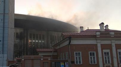 В Москве произошёл пожар в спорткомплексе «Олимпийский»