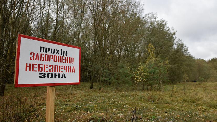 В Чернобыльской зоне отчуждения возник пожар на площади 20 га