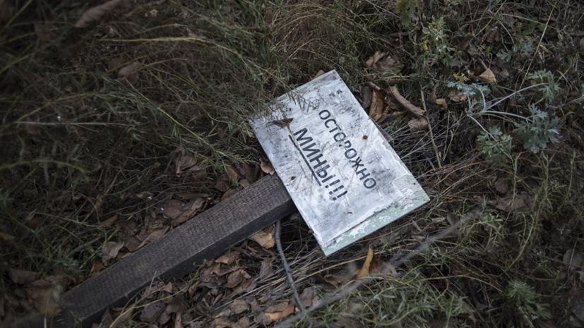 Около 70 человек погибли или пострадали при подрыве мин в Донбассе за 12 месяцев