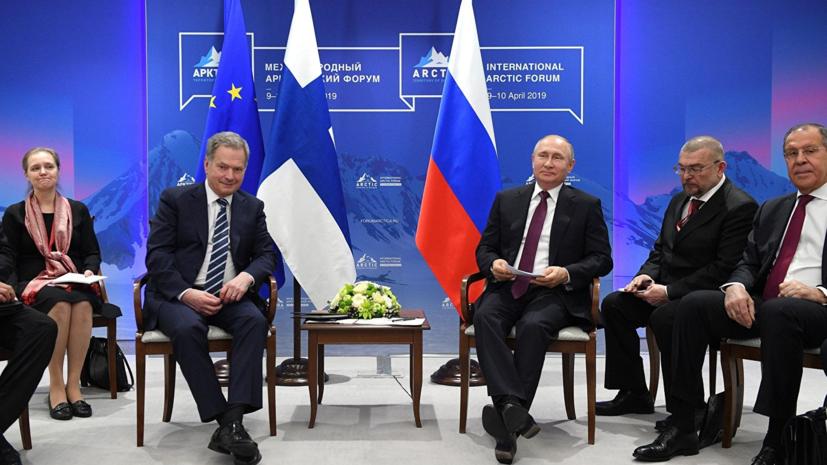 Путин ответил президенту Финляндии на слова о санкциях