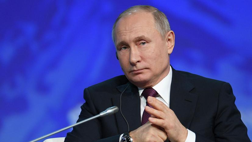 Путин назвал бандитом поправившего его переводчика