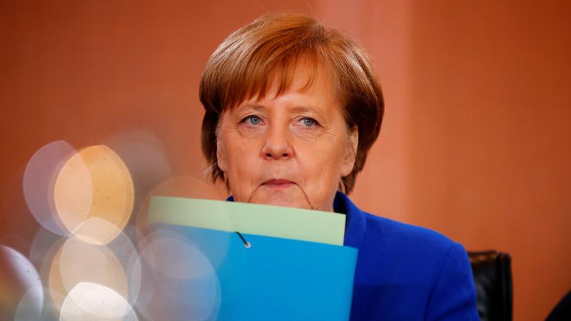 Меркель подчеркнула важность политического урегулирования в Донбассе